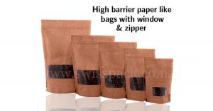 kraft look High barrier bags