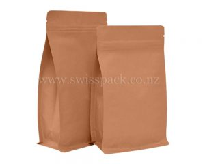 Kraft Paper Pouches with Tear Off Zipper