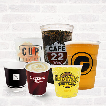 Printed Paper & Plastic Cups