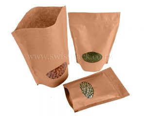 Kraft Brown Paper Bag Oval Window