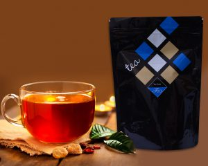Printed tea packaging
